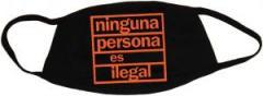 """Zur Mundmaske """"ninguna persona es ilegal"""" für 6,34 € gehen."""