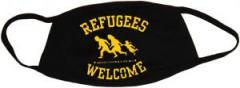 """Zur Mundmaske """"Refugees welcome"""" für 6,50 € gehen."""