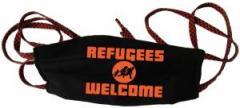 """Zur Mundmaske """"Refugees welcome (Quer)"""" für 6,34 € gehen."""