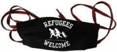 """Zur Mundmaske """"Refugees welcome (weiß)"""" für 6,50 € gehen."""