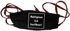 """Zur Mundmaske """"Religion ist heilbar!"""" für 6,34 € gehen."""