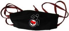 """Zur Mundmaske """"RollifahrerIn Antifaschistische Aktion (rot/schwarz)"""" für 6,50 € gehen."""