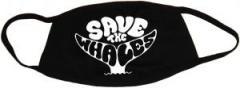 """Zur Mundmaske """"Save the Whales"""" für 6,50 € gehen."""