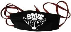 """Zur Mundmaske """"Save the Whales"""" für 6,34 € gehen."""