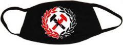 """Zur Mundmaske """"Working Class Hammer (rot/schwarz)"""" für 6,50 € gehen."""