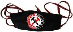 """Zur Mundmaske """"Working Class Hammer (rot/schwarz)"""" für 6,34 € gehen."""