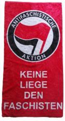 """Zum/zur  Handtuch """"Keine Liege den Faschisten"""" für 17,00 € gehen."""