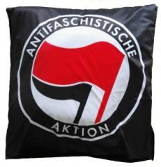 """Zum Kopfkissenbezug """"Antifaschistische Aktion (rot/schwarz)"""" für 20,00 € gehen."""