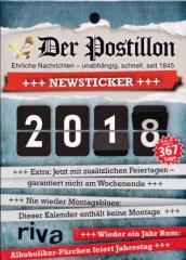 """Zum Kalender """"Der Postillon +++ Newsticker +++ 2018"""" für 5,00 € gehen."""