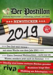 """Zum Kalender """"Der Postillon +++ Newsticker +++ 2019"""" von Stefan Sichermann für 14,99 € gehen."""