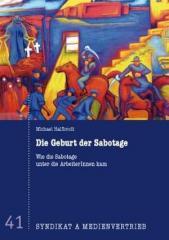 """Zur Broschüre """"Die Geburt der Sabotage"""" für 3,50 € gehen."""