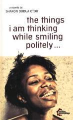"""Zum Buch """"the things i am thinking while smiling politely"""" von Sharon Dodua Otoo für 12,80 € gehen."""