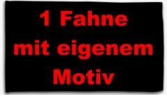 """Zur Fahne / Flagge (ca. 150x100cm) """"1 Fahne mit eigenem Motiv"""" für 20,00 € gehen."""