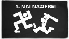"""Zur Fahne / Flagge (ca. 150x100cm) """"1. Mai Nazifrei"""" für 16,00 € gehen."""