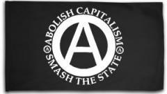 "Zur Fahne / Flagge (ca 150x100cm) ""Abolish Capitalism - Smash The State"" für 16,00 € gehen."
