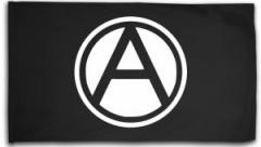 """Zur Fahne / Flagge (ca. 150x100cm) """"Anarchie A"""" für 12,67 € gehen."""