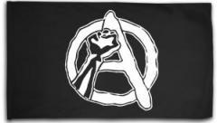 """Zur Fahne / Flagge (ca. 150x100cm) """"Anarchie Faust"""" für 16,00 € gehen."""