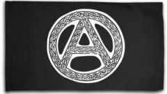 """Zur Fahne / Flagge (ca. 150x100cm) """"Anarchie - Tribal"""" für 16,00 € gehen."""