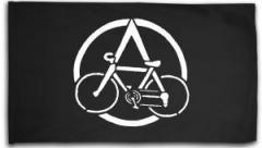 """Zur Fahne / Flagge (ca 150x100cm) """"Anarchocyclist"""" für 16,00 € gehen."""