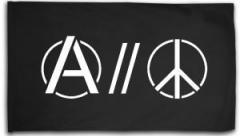 "Zur Fahne / Flagge (ca. 150x100cm) ""Anarchy and Peace"" für 16,00 € gehen."