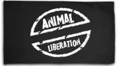 """Zur Fahne / Flagge (ca. 150x100cm) """"Animal Liberation"""" für 16,00 € gehen."""