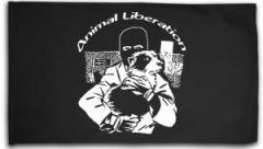 """Zur Fahne / Flagge (ca. 150x100cm) """"Animal Liberation (Hund)"""" für 16,00 € gehen."""