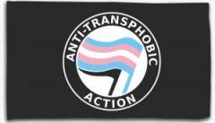 "Zur Fahne / Flagge (ca. 150x100cm) ""Anti-Transphobia Action"" für 16,00 € gehen."