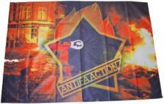 """Zur Fahne / Flagge (ca. 150x100cm) """"Antifa Action"""" für 15,60 € gehen."""