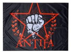 """Zur Fahne / Flagge """"Antifa Faust"""" für 12,00 € gehen."""
