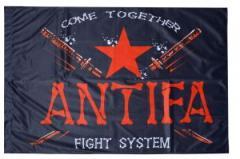 """Zur Fahne / Flagge (ca. 150x100cm) """"Antifa Fight System"""" für 12,67 € gehen."""