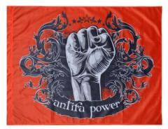 """Zur Fahne / Flagge (ca. 150x100cm) """"Antifa Power"""" für 12,67 € gehen."""