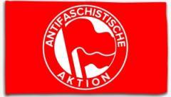 """Zur Fahne / Flagge (ca. 150x100cm) """"Antifaschistische Aktion (1932, rot/rot)"""" für 13,00 € gehen."""