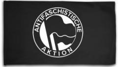 """Zur Fahne / Flagge (ca. 150x100cm) """"Antifaschistische Aktion (1932, schwarz/schwarz)"""" für 16,00 € gehen."""