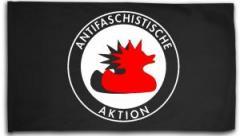 """Zur Fahne / Flagge (ca. 150x100cm) """"Antifaschistische Aktion (Enten)"""" für 16,00 € gehen."""