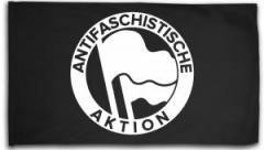 """Zur Fahne / Flagge (ca. 150x100cm) """"Antifaschistische Aktion (Original von 1932 in weiß)"""" für 16,00 € gehen."""
