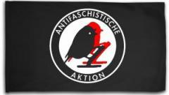 """Zur Fahne / Flagge (ca. 150x100cm) """"Antifaschistische Aktion - Vögel"""" für 15,60 € gehen."""