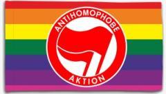 """Zur Fahne / Flagge (ca. 150x100cm) """"Antihomophobe Aktion (rot/rot)"""" für 16,00 € gehen."""