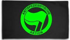 """Zur Fahne / Flagge (ca. 150x100cm) """"Antispeziesistische Aktion (grün/grün)"""" für 15,60 € gehen."""