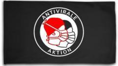 """Zur Fahne / Flagge (ca. 150x100cm) """"Antivirale Aktion - Mundmasken"""" für 16,00 € gehen."""