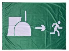 """Zur Fahne / Flagge (ca. 150x100cm) """"Atomausstieg"""" für 13,00 € gehen."""