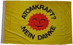 """Zur Fahne / Flagge (ca. 150x100cm) """"Atomkraft? Nein Danke"""" für 13,00 € gehen."""