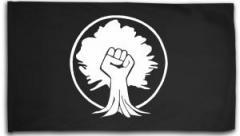 """Zur Fahne / Flagge (ca. 150x100cm) """"Baumfaust"""" für 16,00 € gehen."""