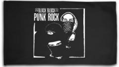 """Zur Fahne / Flagge (ca. 150x100cm) """"Black Block Punk Rock"""" für 16,00 € gehen."""