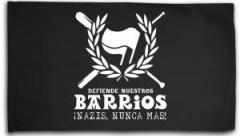 "Zur Fahne / Flagge (ca. 150x100cm) ""Defiende nuestros Barrios"" für 15,60 € gehen."