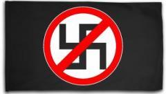 """Zur Fahne / Flagge (ca. 150x100cm) """"Durchgestrichenes Hakenkreuz"""" für 16,00 € gehen."""