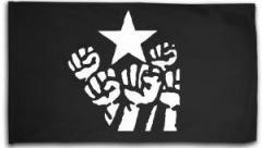 """Zur Fahne / Flagge (ca. 150x100cm) """"Fist and Star"""" für 16,00 € gehen."""