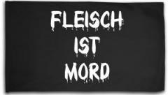 """Zur Fahne / Flagge (ca. 150x100cm) """"Fleisch ist Mord"""" für 16,00 € gehen."""