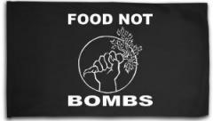 """Zur Fahne / Flagge (ca. 150x100cm) """"Food Not Bombs"""" für 16,00 € gehen."""
