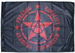 "Zur Fahne / Flagge (ca 150x100cm) ""Freedom - Equality - Anarcho - Communism"" für 13,00 € gehen."
