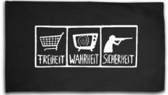 """Zur Fahne / Flagge (ca. 150x100cm) """"Freiheit - Wahrheit - Sicherheit"""" für 16,00 € gehen."""